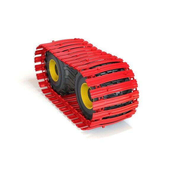 CLARK-TRACKS Band TXL150-1000-ASY-24-H, 750/55-26.5, Nokian FK TRS 2, 2 Spikes pro Bodenplatte versetzt angeordnet