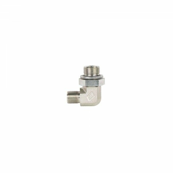 "Adjustable angle adapter 90 °, screw-in thread G 3/4 ""x 1/2"", AG adjustable. x AG with 60 ° cone"