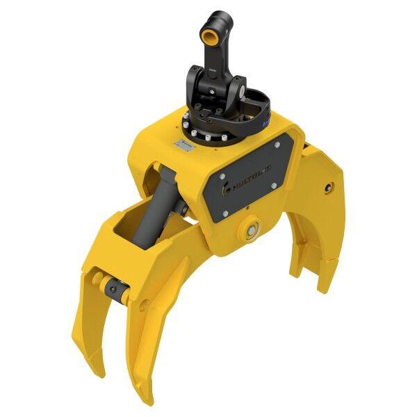 HULTDINS Multi-use grapple gripper MultiGrip TL430 with rotator IR12X-12 with saw rotator