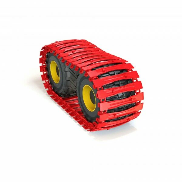 CLARK-TRACKS belt ATF-900-24, 710 / 45-26.5, Nokian Forest King TRS 2, 2 spikes per base plate in a row