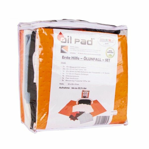 OIL PAD oil spill set - to be carried on all forest machines for leaks